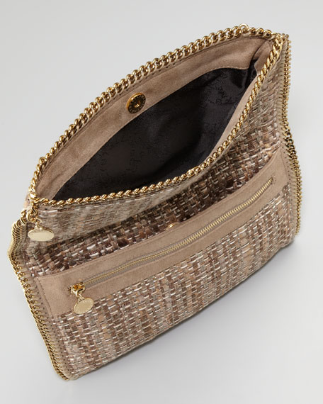 Falabella Fold-Over Boucle Clutch Bag