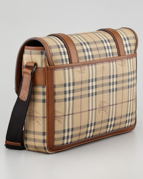 Check Messenger Bag