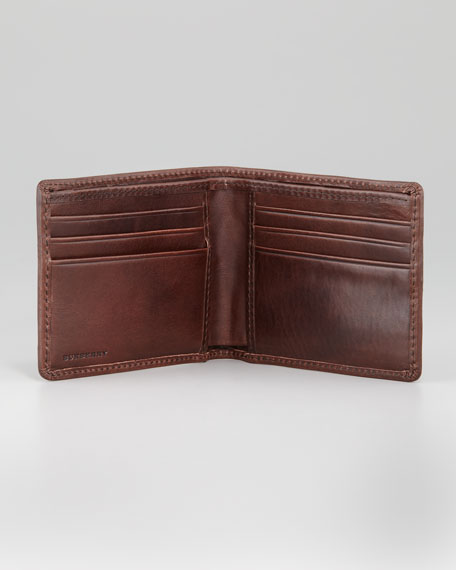 Hipfold Check Wallet, Brown