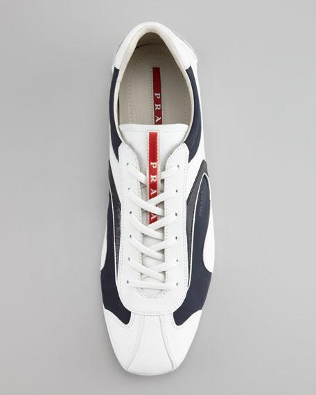 Monte Carlo Sneaker, White/Navy