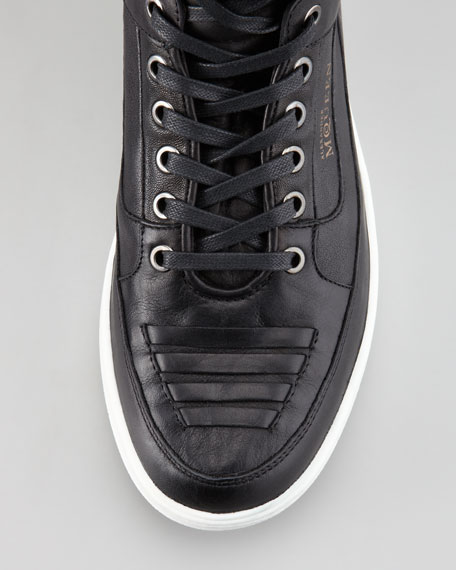 Joust Leather High-Top Sneaker, Black