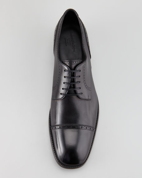 Couture Lace-Up Derby, Black