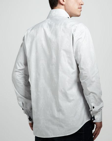Matis Jacquard-Print Sport Shirt