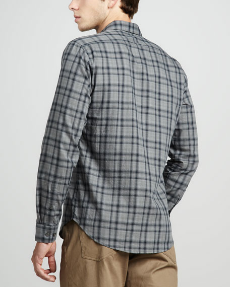 Zack PS Brushed Plaid Sport Shirt