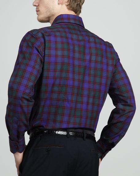 Paisley/Plaid Sport Shirt