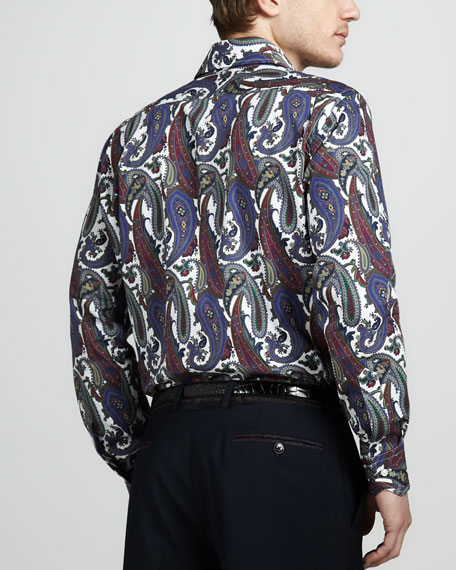 Large-Paisley Sport Shirt
