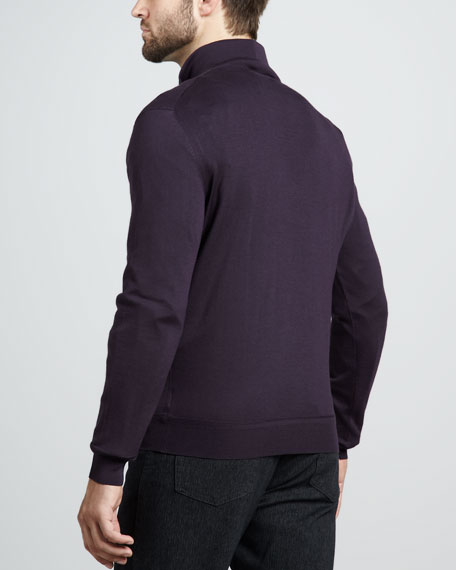 Wool-Cashmere Zip Sweater