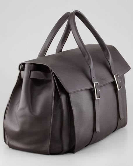 Amalfi Large Polo Bag, Brown