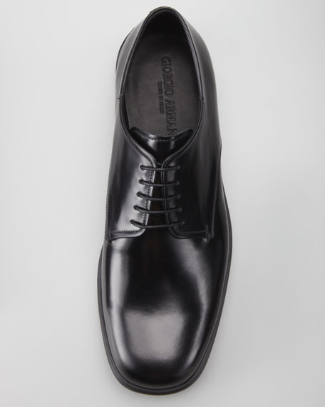 Leather Lace-Up Derby