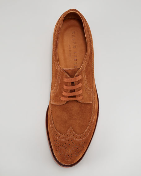 Hoover Snuff Suede Lace-Up Oxford, Red