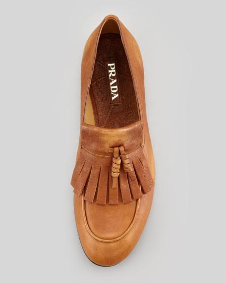 Slip-On Kiltie Loafer, Brown