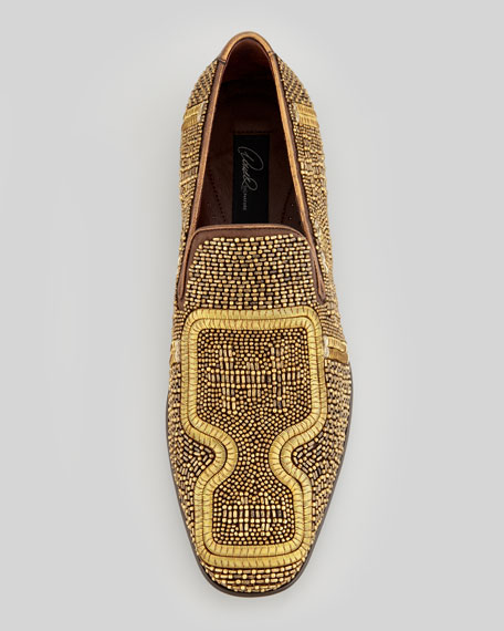 Pascow Antique Beaded Loafer, Gold
