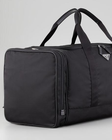 Nylon Large Weekender Bag, Black