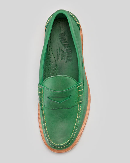 Martin Full-Grain Penny Loafer, Green