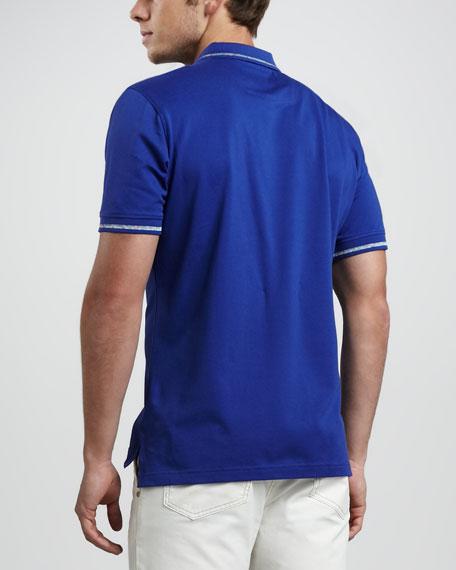 Slack Tides Pique Polo, Blue