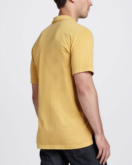 Sueded Jersey Polo, Yellow