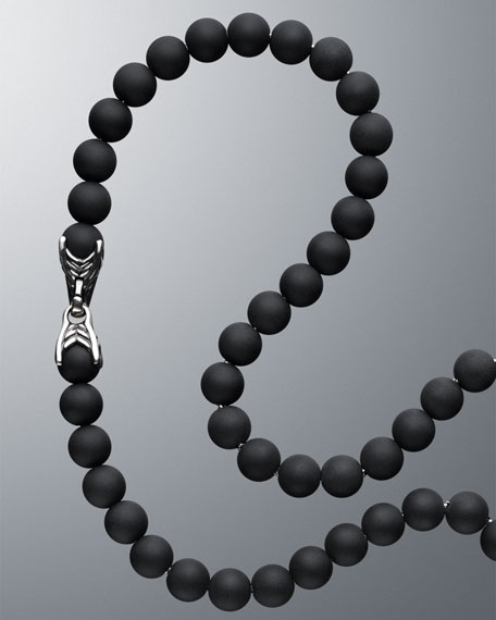 Spiritual Beads Necklace with Black Onyx