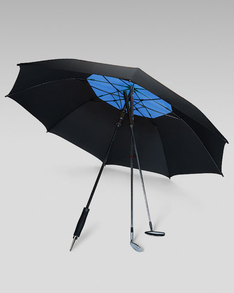 Golf Umbrella, Black/Royal Blue