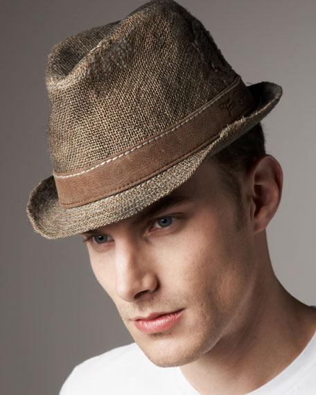 Jute Trilby Hat