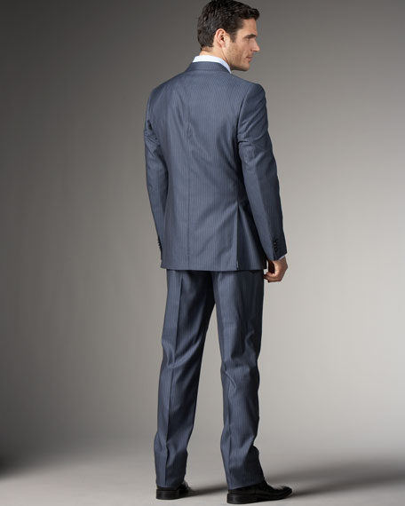 Shadow-Stripe Suit