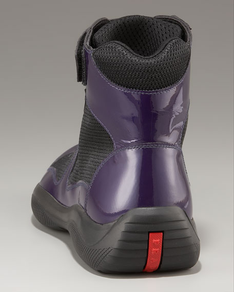 Patent Leather Hi-Top, Purple