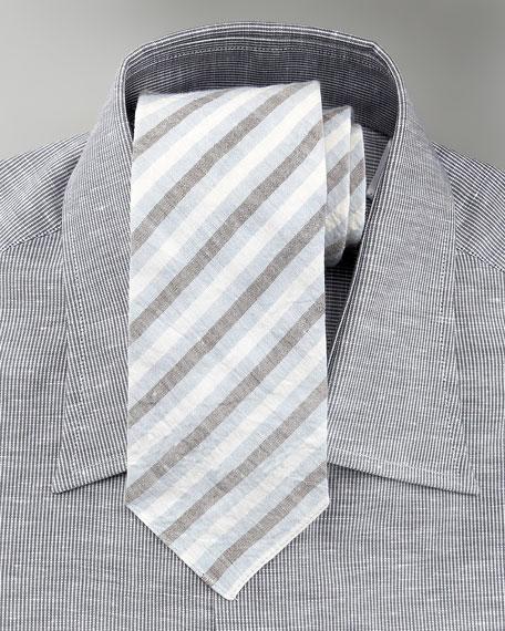 Modern-Fit Cotton-Linen Shirt