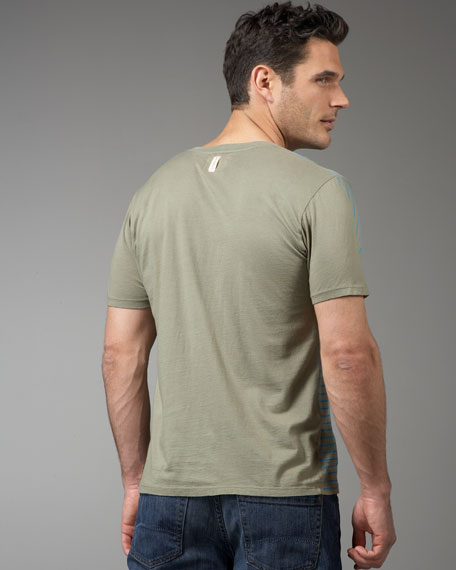 Surf's Up Striped Tee, Olive