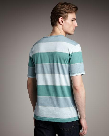 Bar-Stripe Tee, Blue-Green