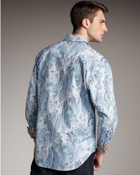 Milan Paisley Pleated Shirt