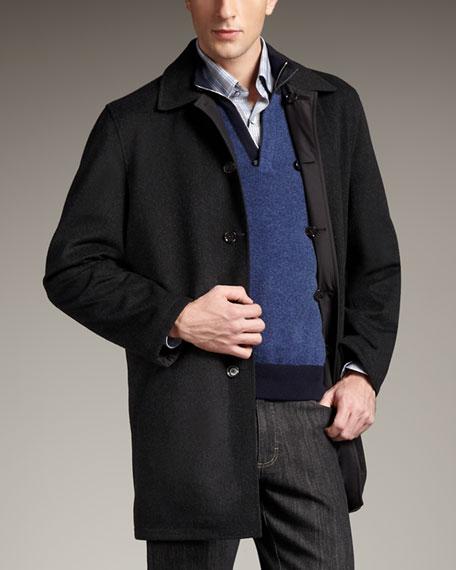 Reversible Raincoat, Black