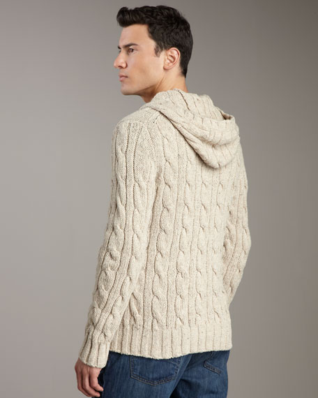 Cable-Knit Toggle Cardigan