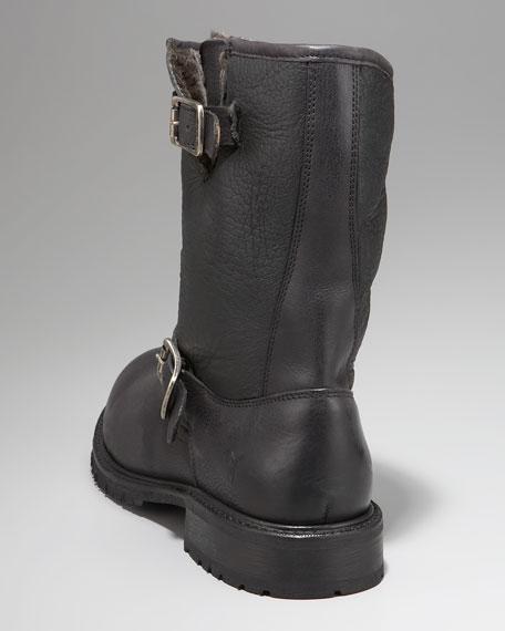 Rogan Shearling Engineer Boot