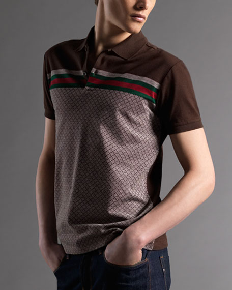 Diamante Web Polo, Beige/Ebony