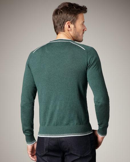 Tipped Sweater, Petrol