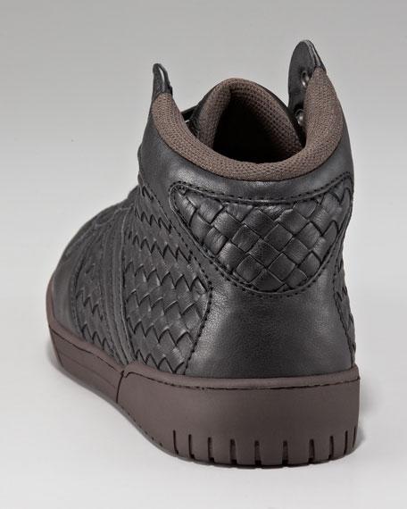 Woven Hi-Top Sneaker