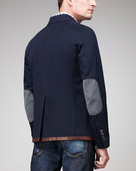 Three-Button Cotton Blazer