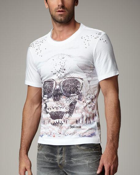 Skull-Print Tee