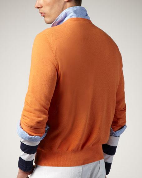V-Neck Sweater, Sun Orange