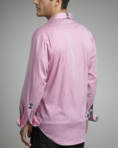 X Collection Twofer Striped Shirt, Pink