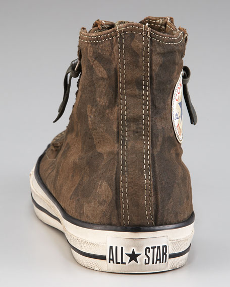 All Star Double-Zip Hi-Top Sneaker, Camo