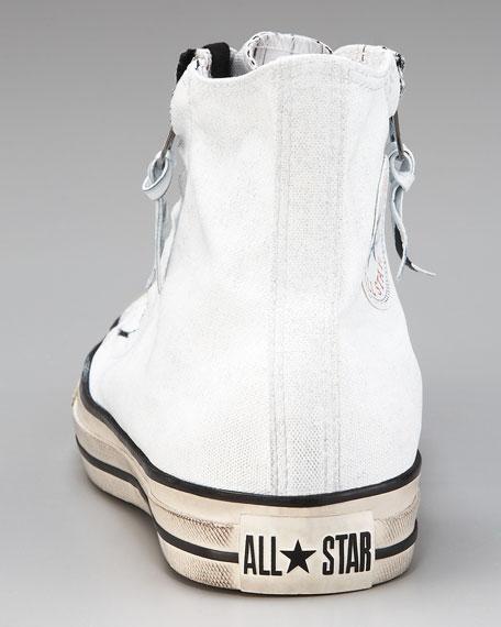 All Star Double-Zip Hi-Top Sneaker, White