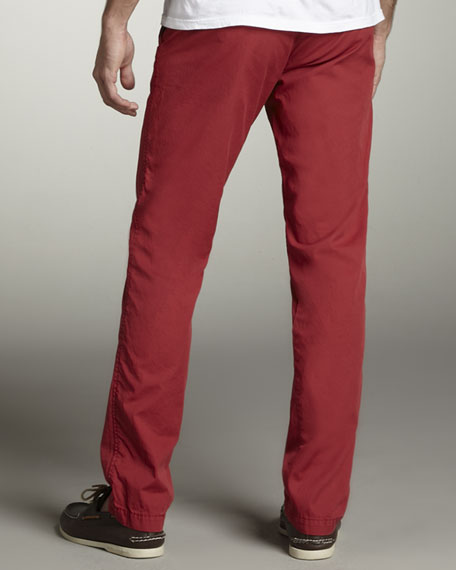 Bellmont Slim Pants, Red