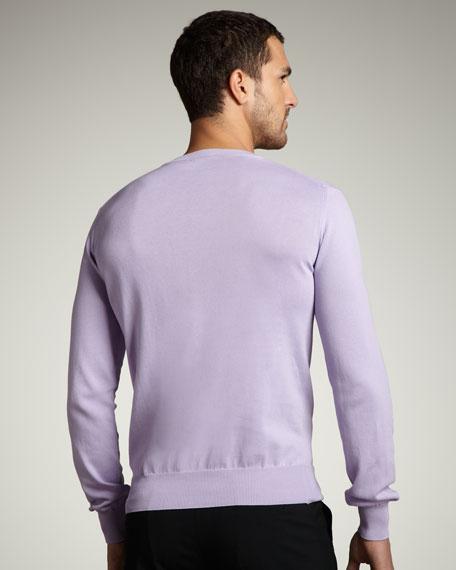 V-Neck Medusa Sweater, Light Purple