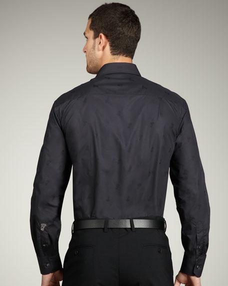 City Fit Medusa Sport Shirt, Black