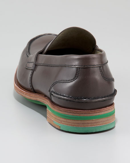 Contrast-Sole Penny Loafer