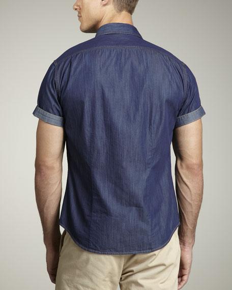 Button-Front Short-Sleeve Shirt