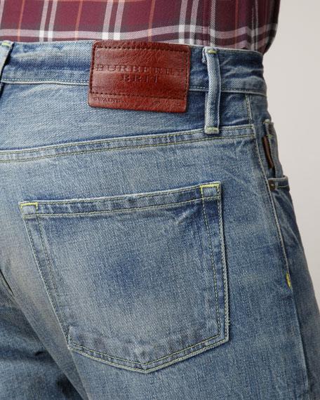 Bleach-Wash Jeans