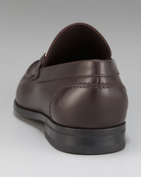Bueno Plaque Loafer, Brown