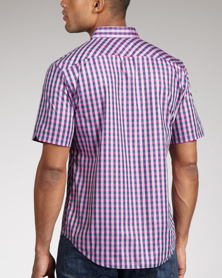 Check Short-Sleeve Wood Shirt