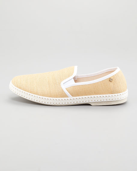 Montecristi Slip-On Loafer, Blanc